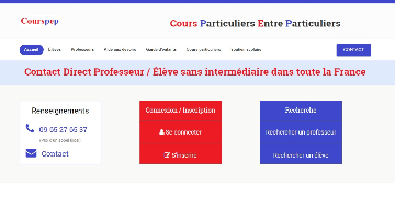 Courspep : Cours Particuliers Entre Particuliers Logo